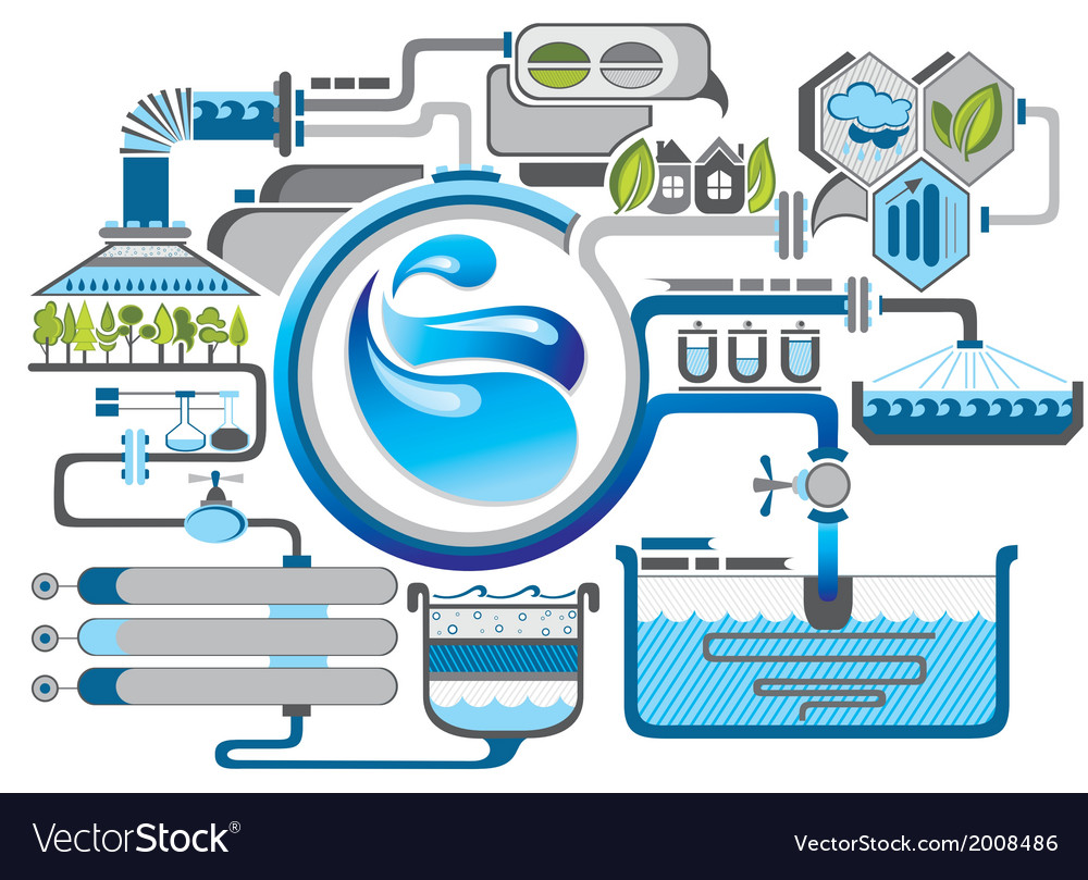 Water infographics vector | Price: 1 Credit (USD $1)