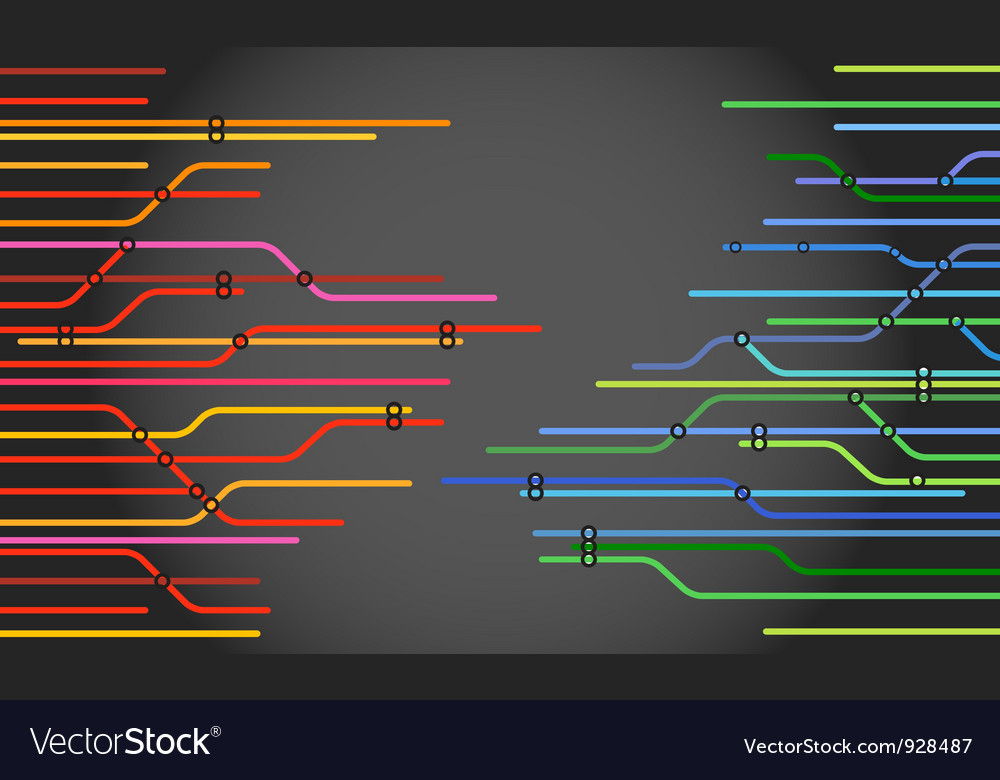 Abstract railway scheme vector | Price: 1 Credit (USD $1)