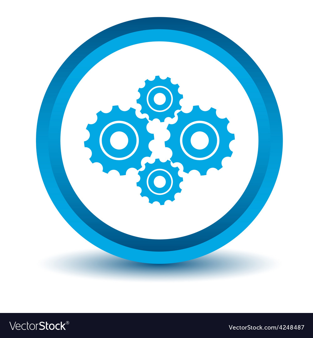 Blue mechanism icon vector | Price: 1 Credit (USD $1)