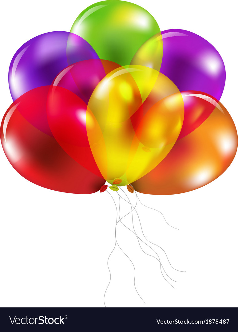 Color balloons vector | Price: 1 Credit (USD $1)