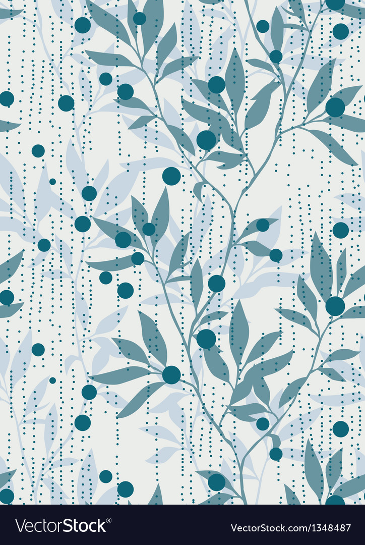 Foliage repeating pattern vector | Price: 1 Credit (USD $1)