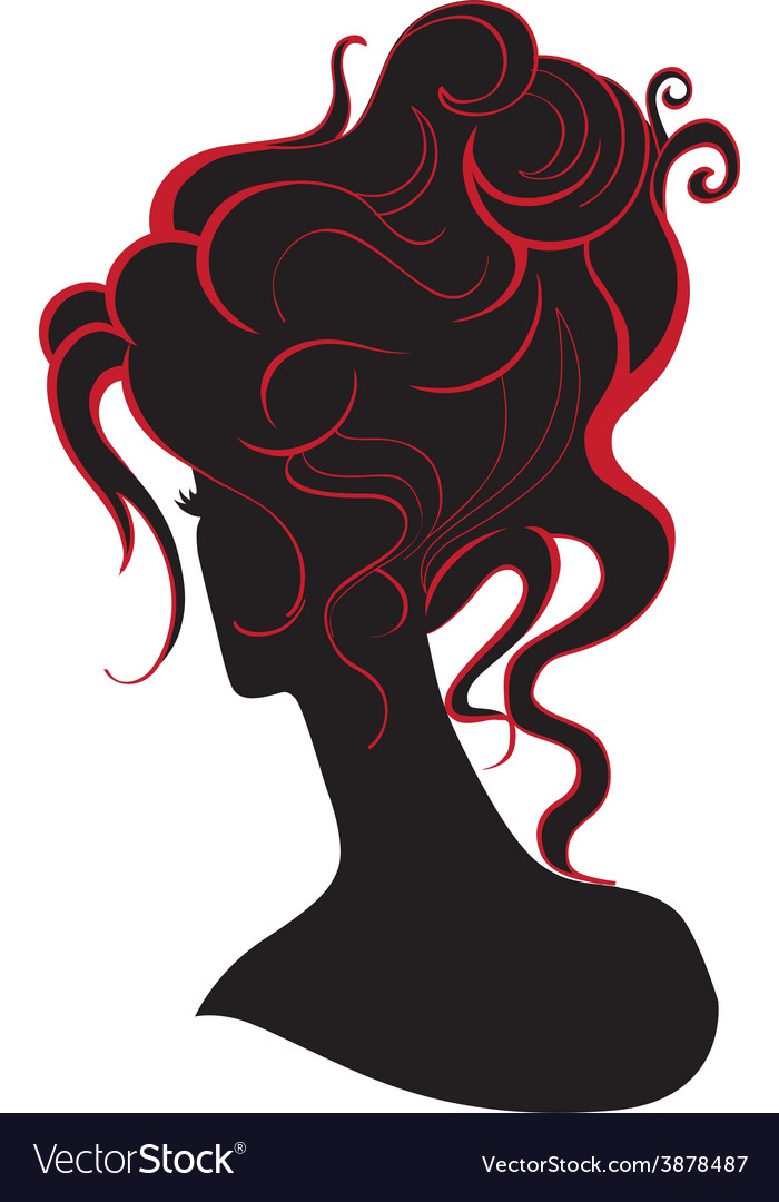 Girl with a high hairdo vector | Price: 1 Credit (USD $1)