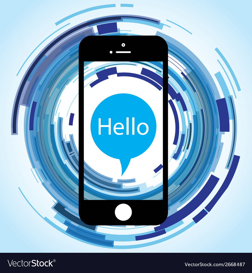 Hello phone abstract vector | Price: 1 Credit (USD $1)