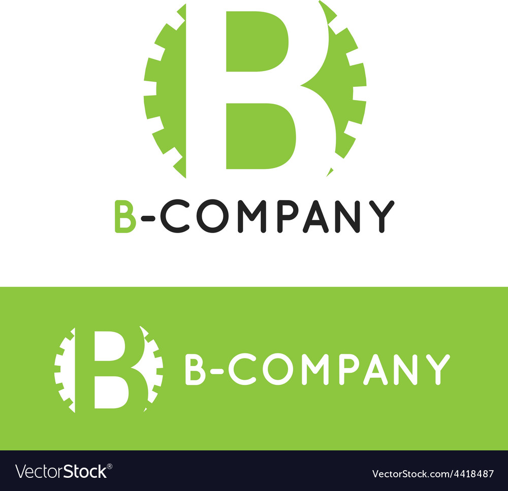 Minimalistic green b letter logotype vector | Price: 1 Credit (USD $1)