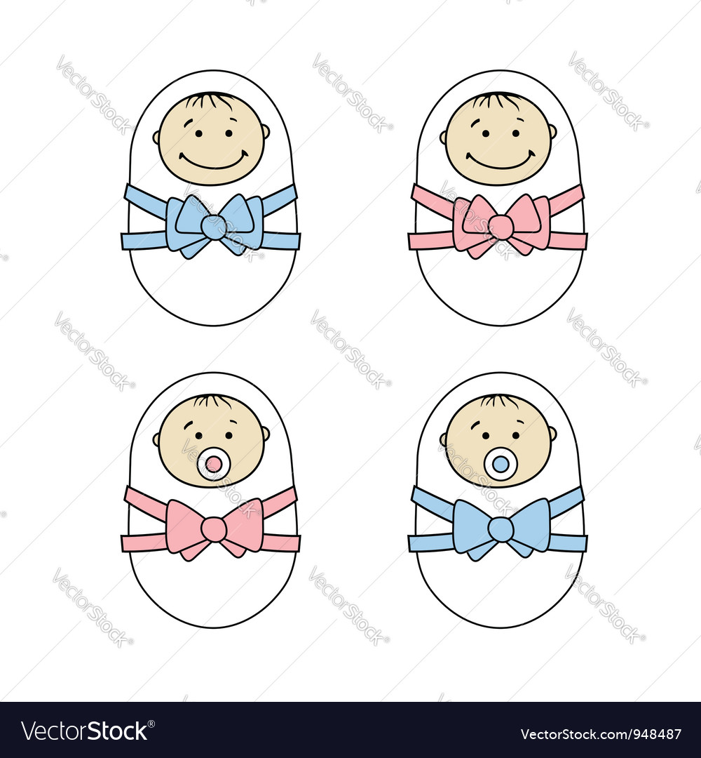 Newborns babies vector | Price: 1 Credit (USD $1)