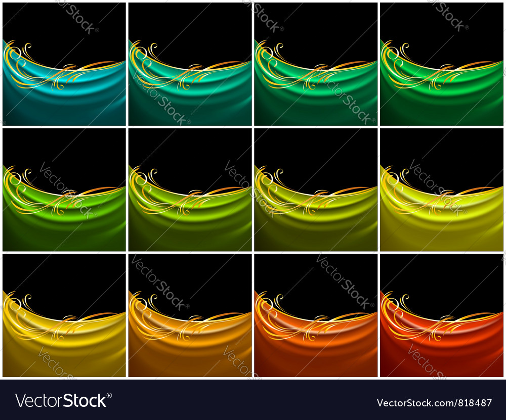 Set color curtain silk tissue vector | Price: 1 Credit (USD $1)