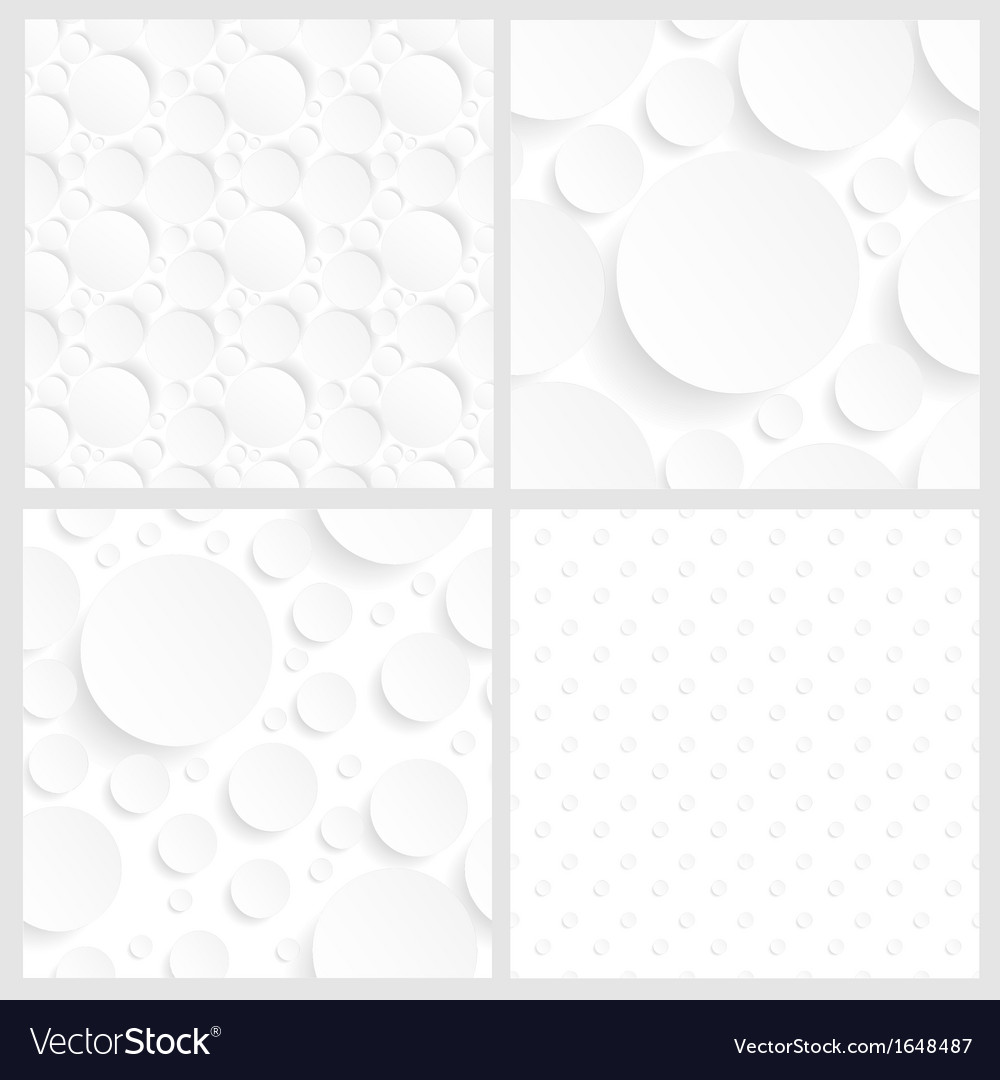 Set of four seamless white backgrounds vector | Price: 1 Credit (USD $1)