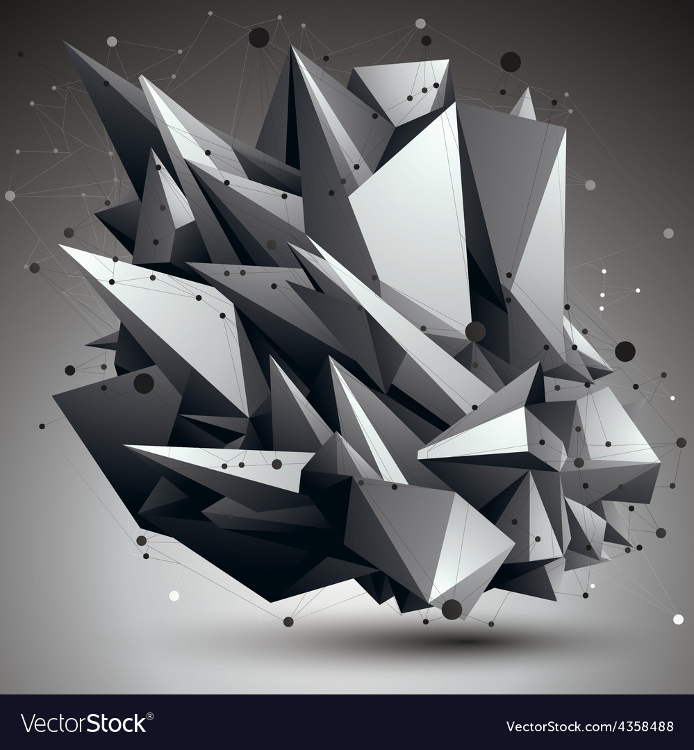 3d abstract design object polygonal complicated vector   Price: 1 Credit (USD $1)