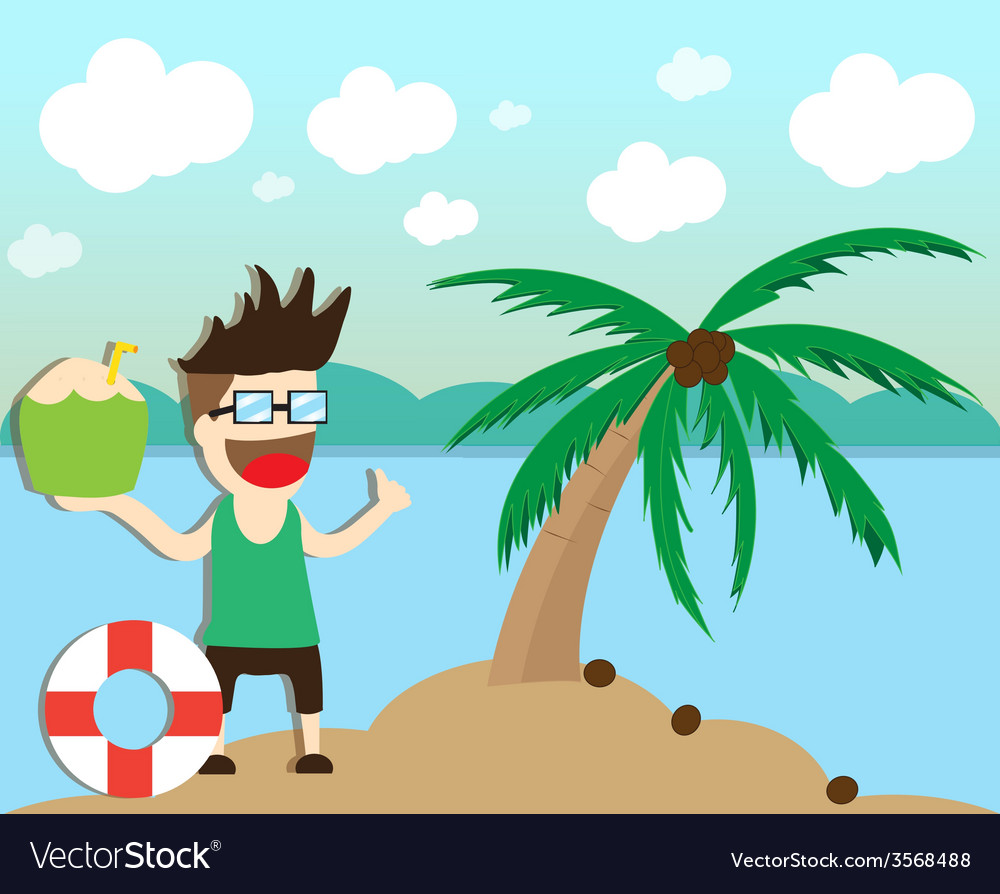 Beach summer holidays vector | Price: 1 Credit (USD $1)