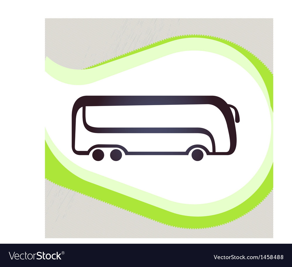 Bus retro-style emblem icon pictogram eps 10 vector | Price: 1 Credit (USD $1)