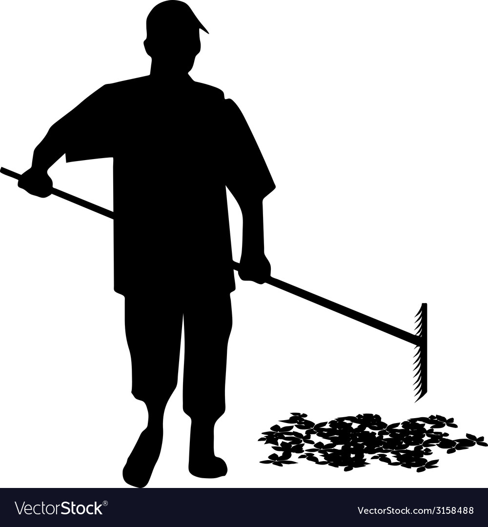 Gardener silhouette vector | Price: 1 Credit (USD $1)