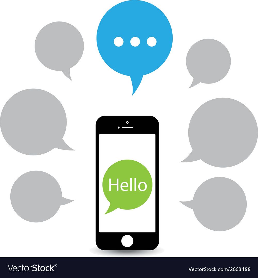 Hello phone vector | Price: 1 Credit (USD $1)