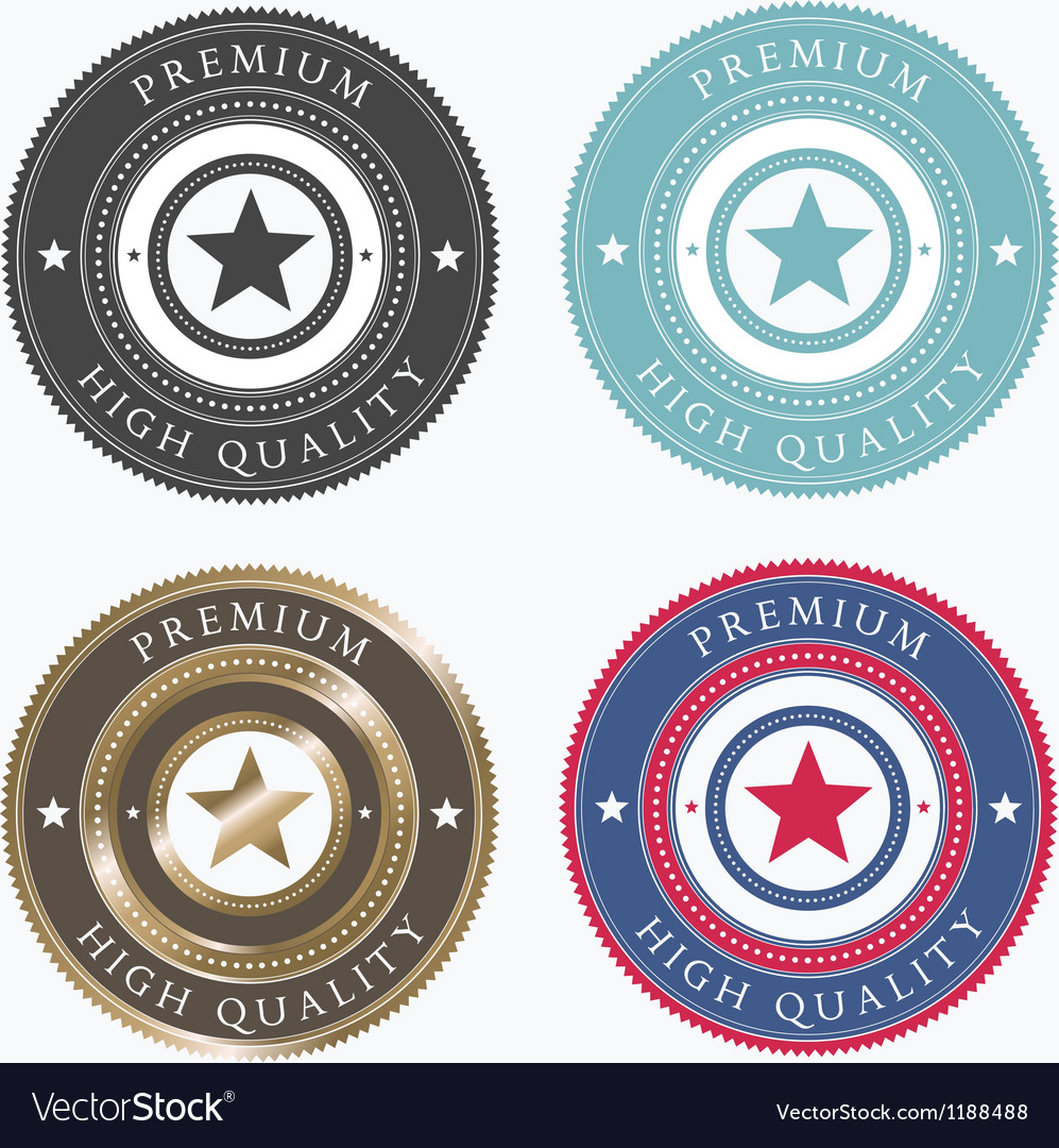 Premium labels vector | Price: 1 Credit (USD $1)
