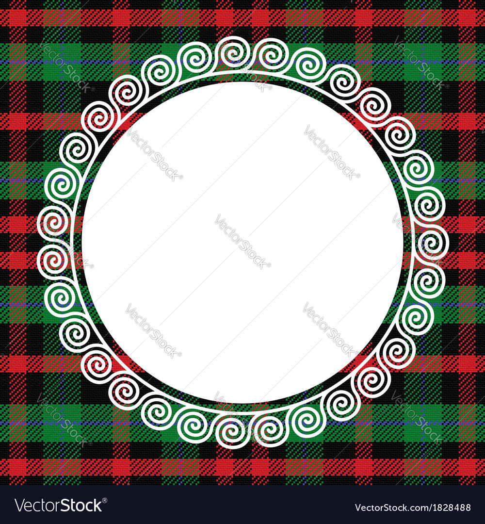 Scottish tartan with frame vector | Price: 1 Credit (USD $1)
