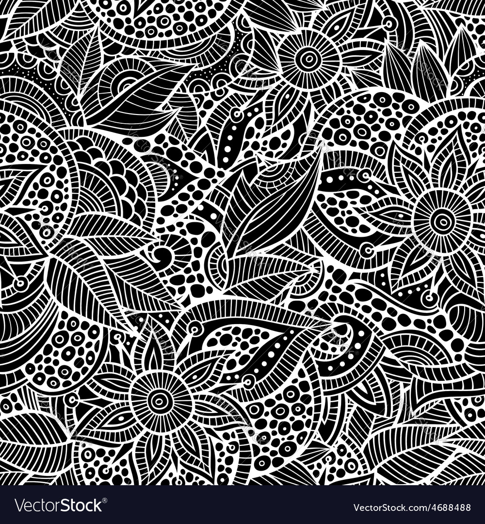 Sketchy doodles decorative floral ornamental vector | Price: 1 Credit (USD $1)