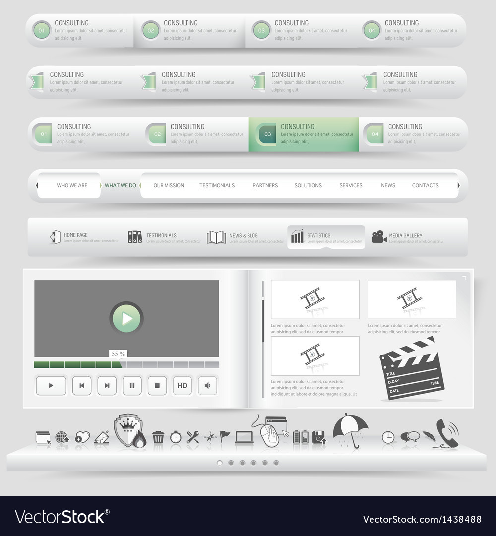 Website navigation vector | Price: 1 Credit (USD $1)