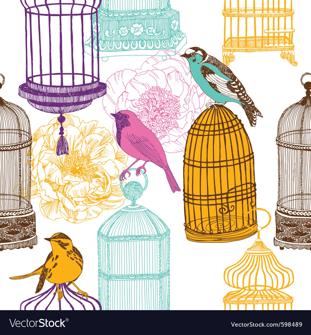 Bird collage background vector | Price: 1 Credit (USD $1)