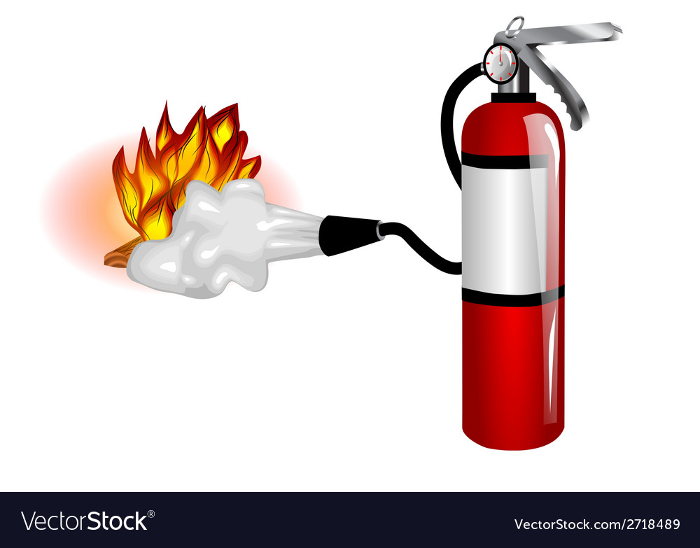 Fire extinguisher use vector | Price: 1 Credit (USD $1)