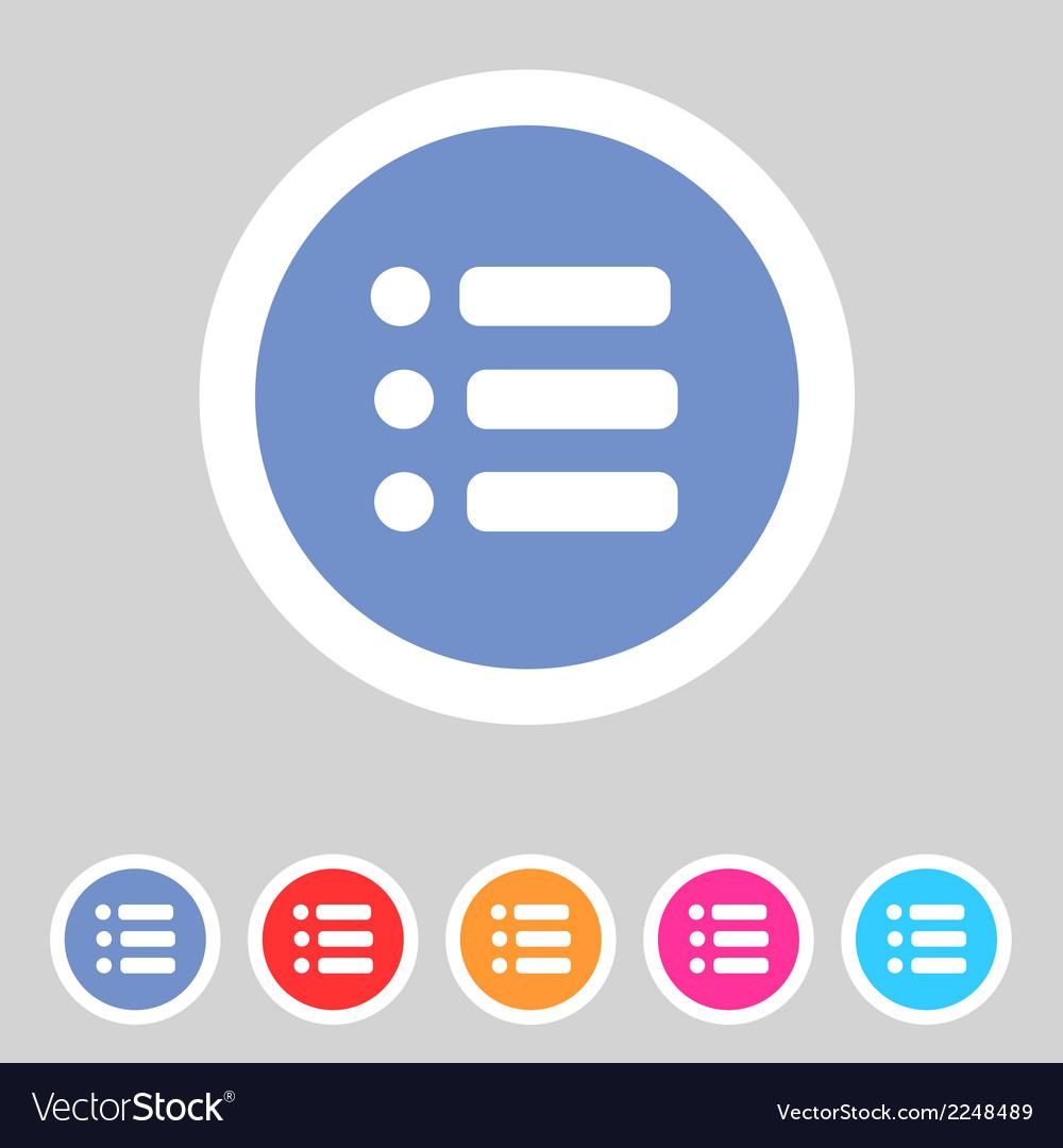 Flat game graphics icon menu vector | Price: 1 Credit (USD $1)