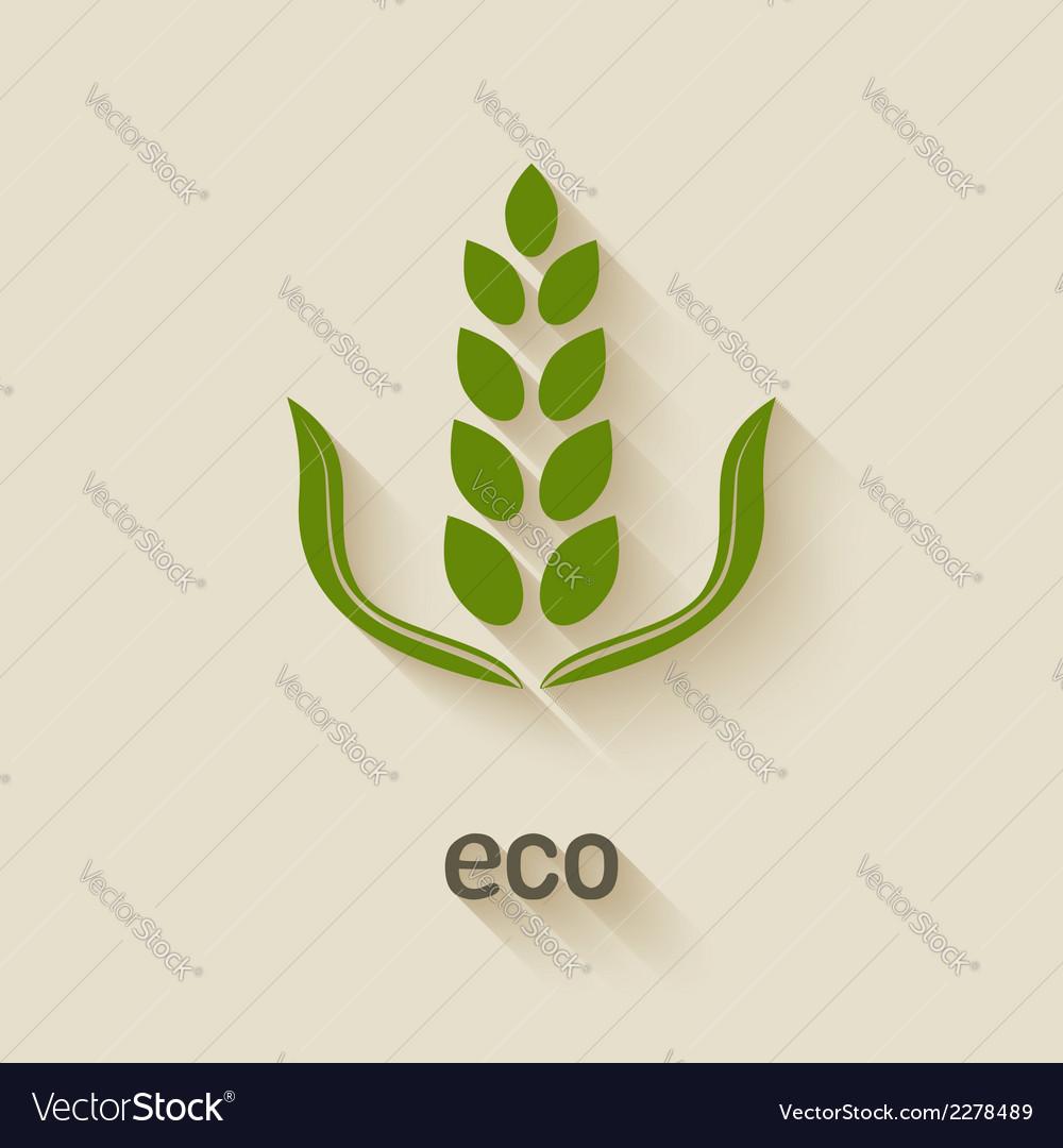 Green eco icon vector | Price: 1 Credit (USD $1)