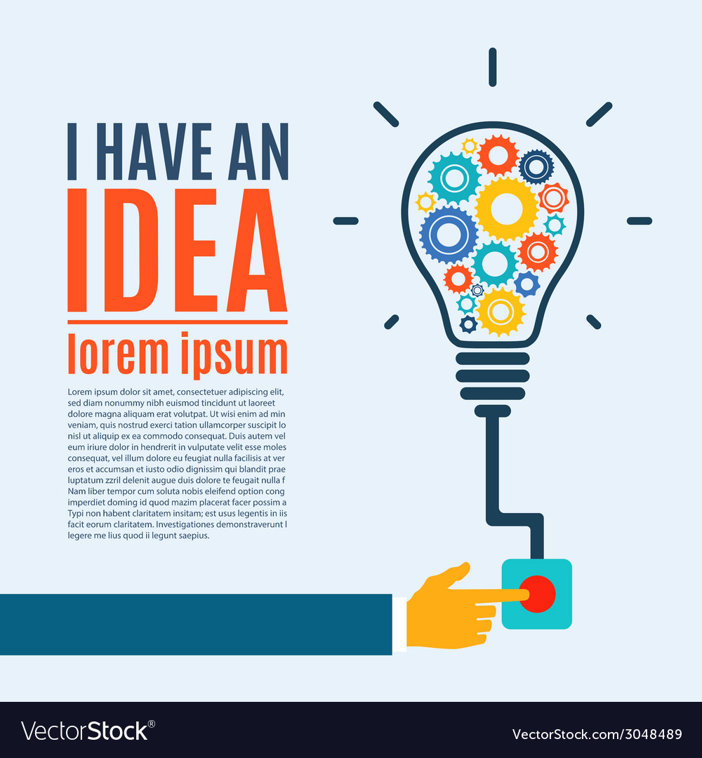 I have an idea creative conceptual background vector | Price: 1 Credit (USD $1)