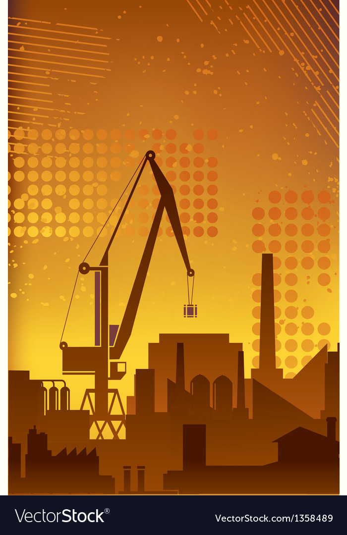Industrial plant2 vector | Price: 1 Credit (USD $1)