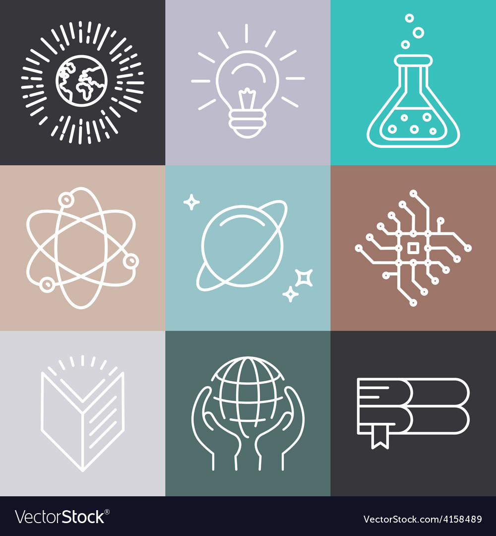 Linear science icons vector   Price: 1 Credit (USD $1)