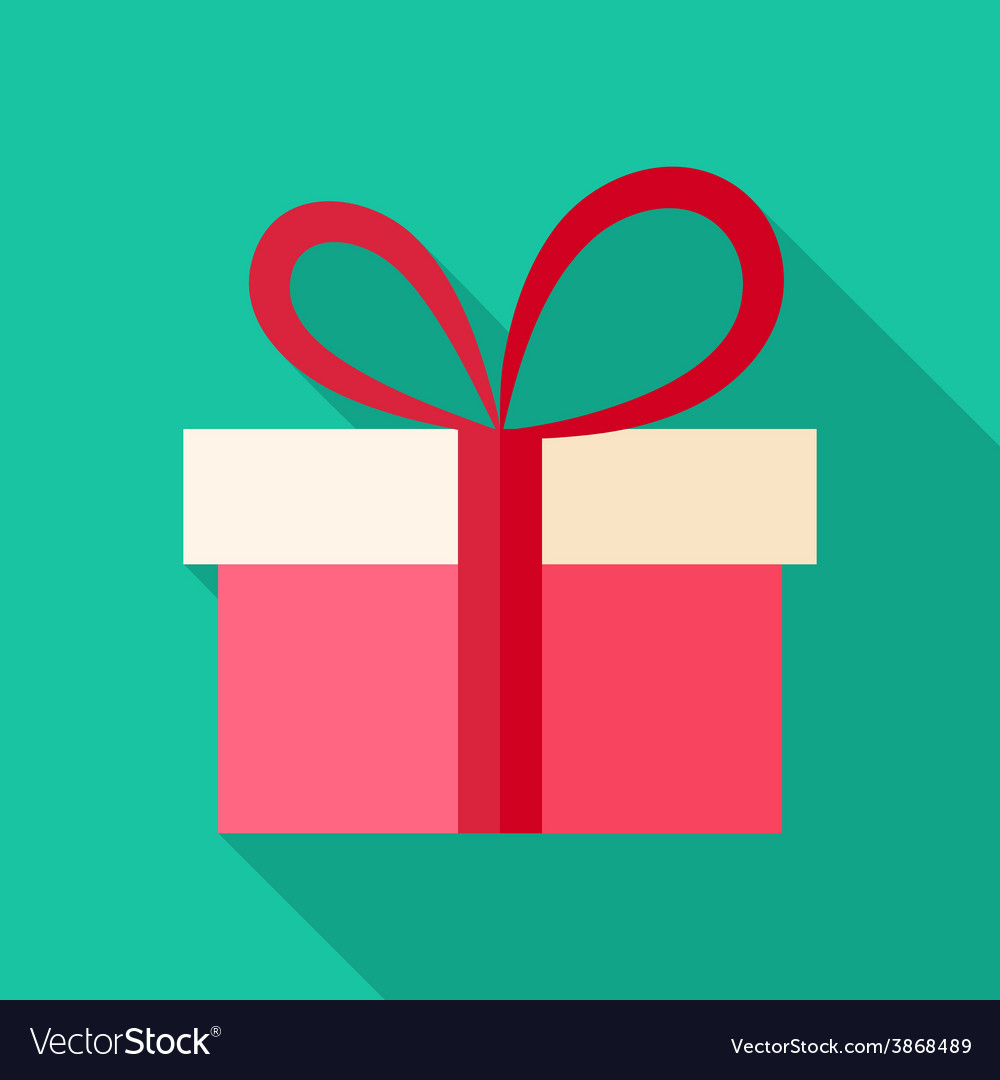 Present box with big bow vector | Price: 1 Credit (USD $1)