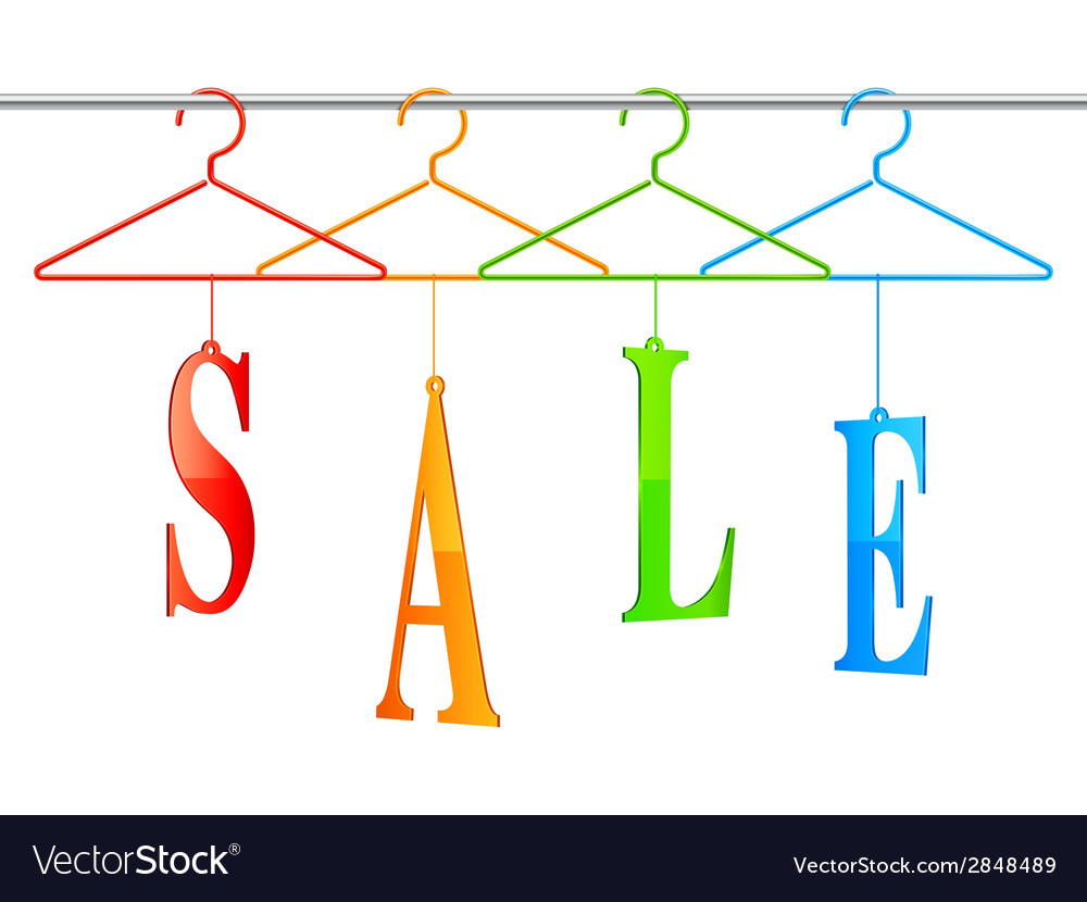 Sale hangers vector | Price: 1 Credit (USD $1)