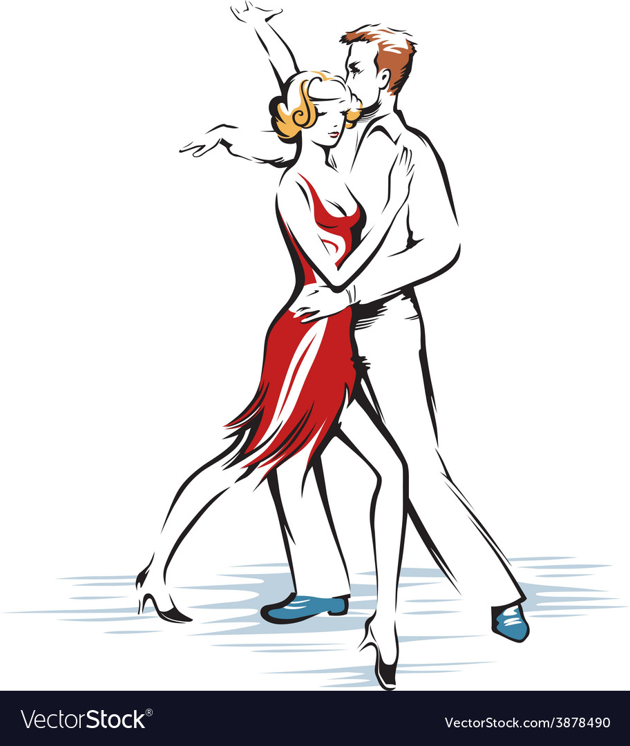Abstract dancing couple vector | Price: 1 Credit (USD $1)
