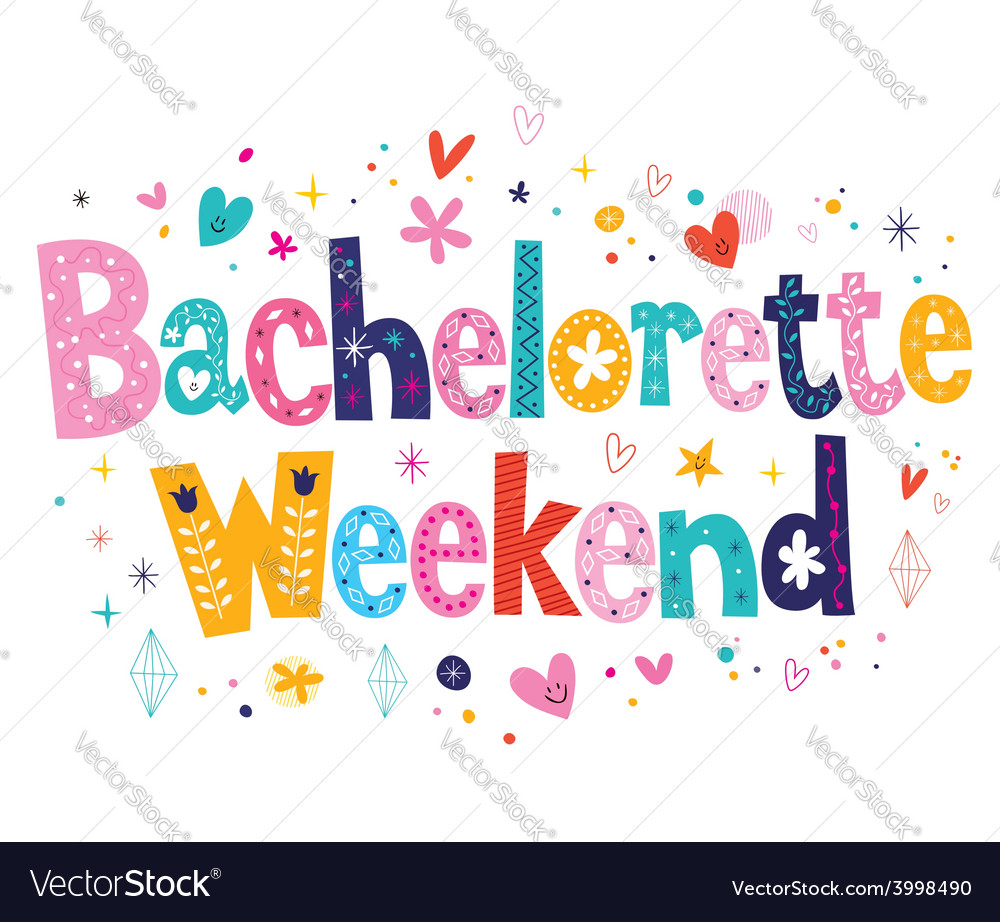 Bachelorette weekend vector | Price: 1 Credit (USD $1)