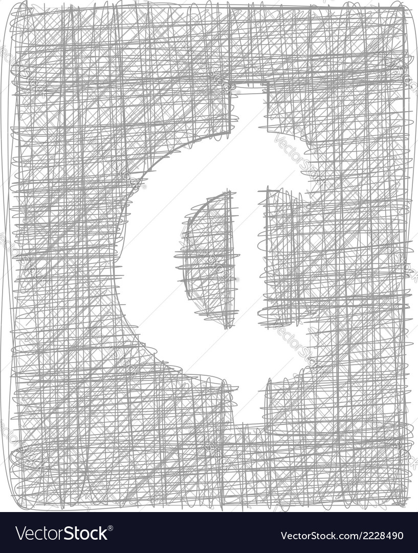 Cent sign - freehand symbol vector   Price: 1 Credit (USD $1)