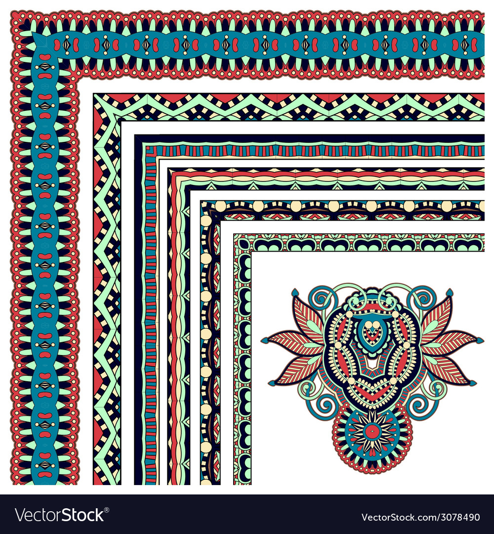 Collection of ornamental floral vintage frame vector   Price: 1 Credit (USD $1)