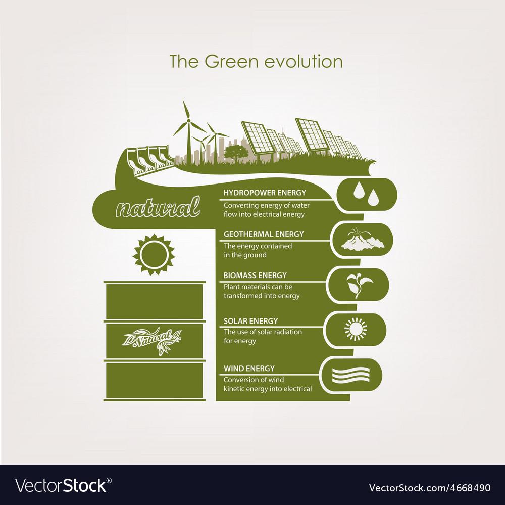Infographics renewable nature vector | Price: 1 Credit (USD $1)