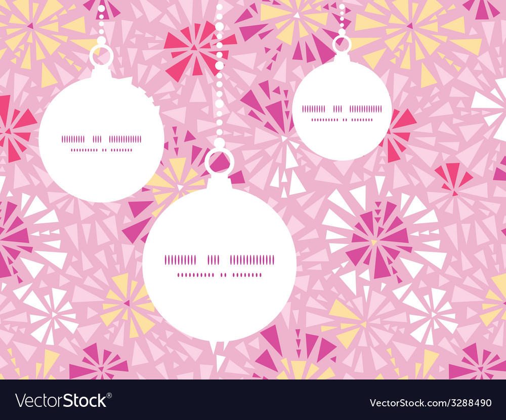 Pink abstract triangles christmas ornaments vector | Price: 1 Credit (USD $1)