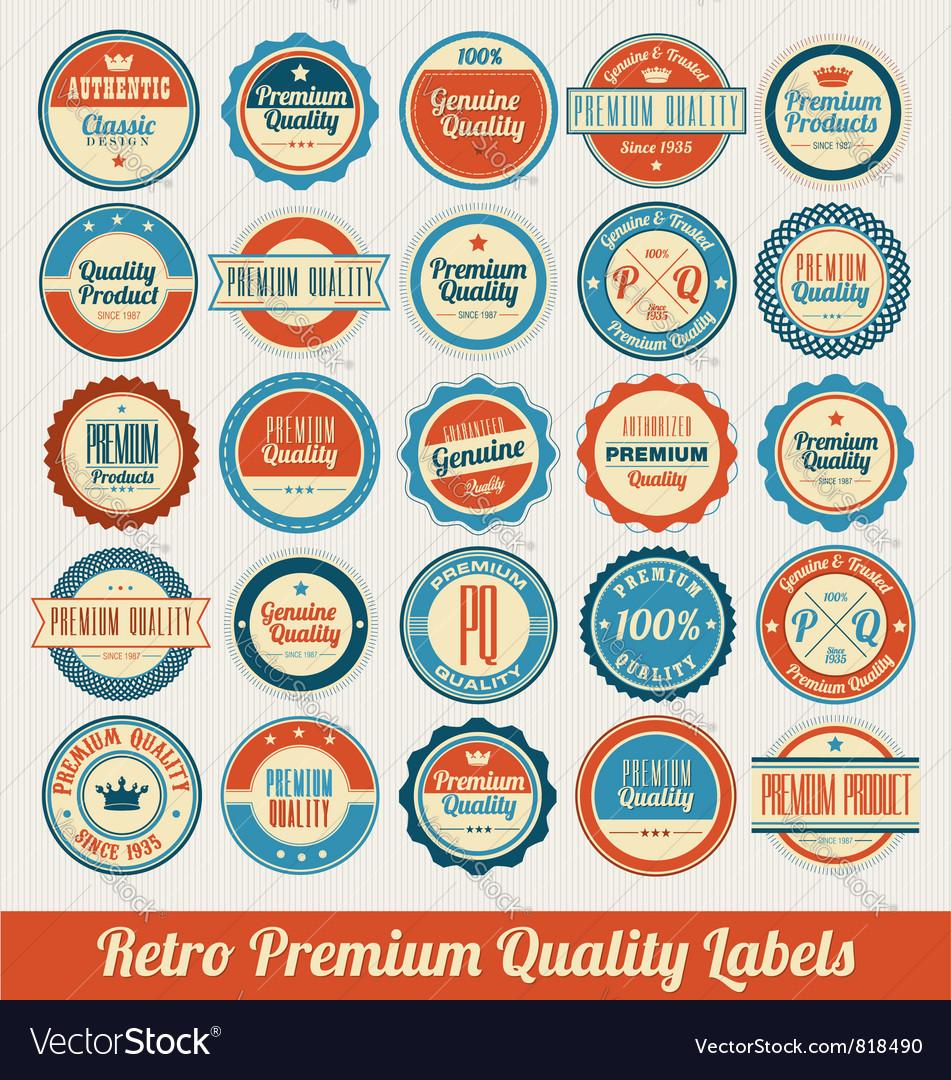 Retro labels vector | Price: 3 Credit (USD $3)