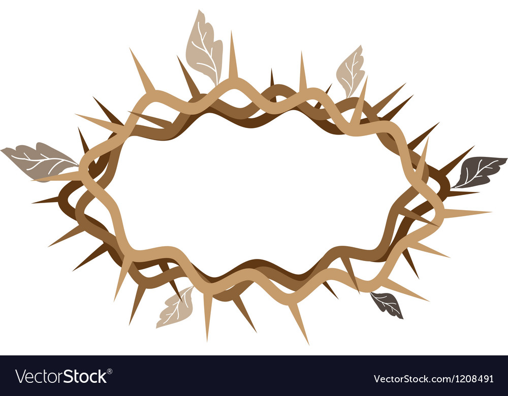 A crown of thorns with dried leaves vector | Price: 1 Credit (USD $1)