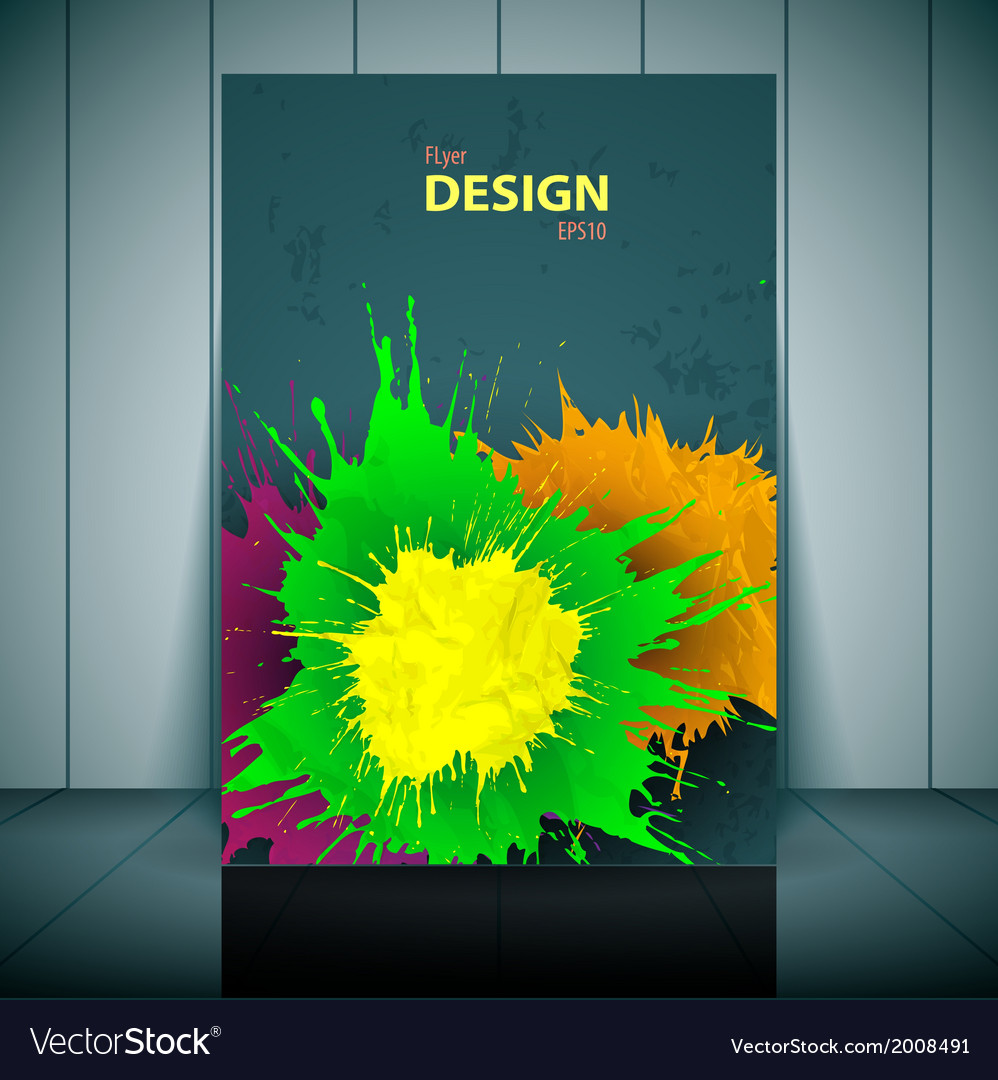 Dental brochure flyer magazine cover  poster vector | Price: 1 Credit (USD $1)