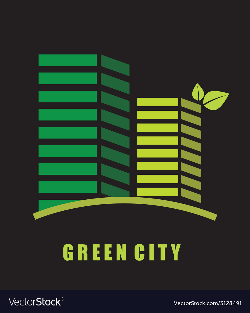 Green city design vector | Price: 1 Credit (USD $1)