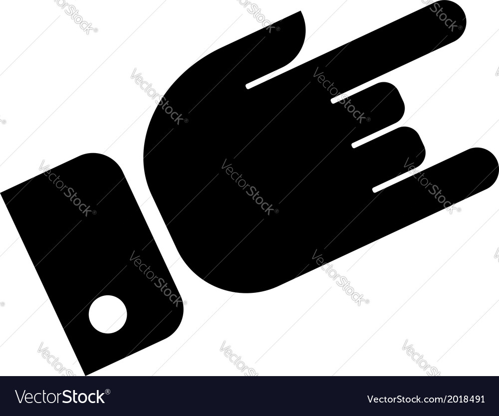 Hand showing rock icon vector | Price: 1 Credit (USD $1)