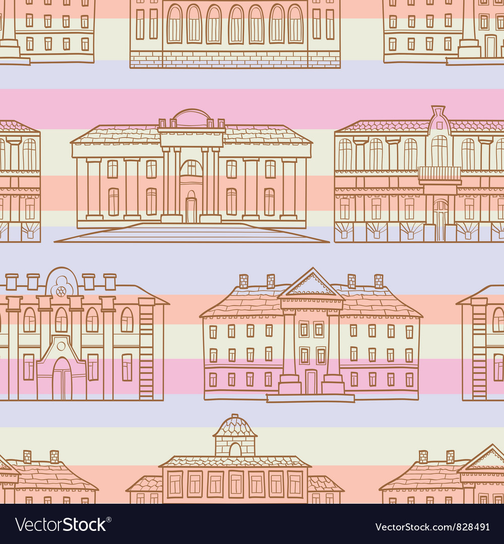 House pattern striped vector | Price: 1 Credit (USD $1)