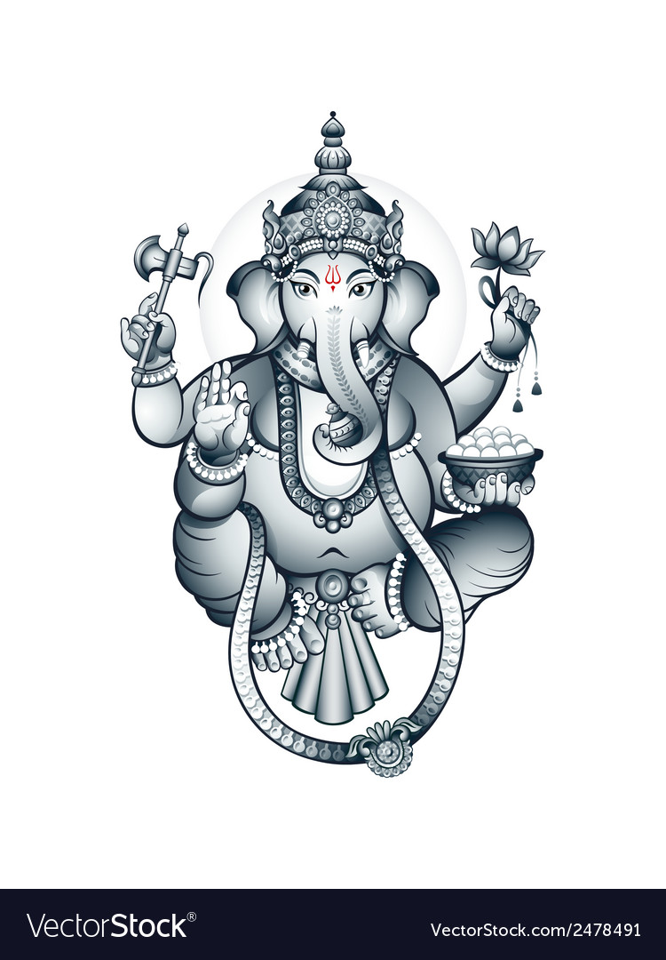 Indian god ganesha vector | Price: 1 Credit (USD $1)