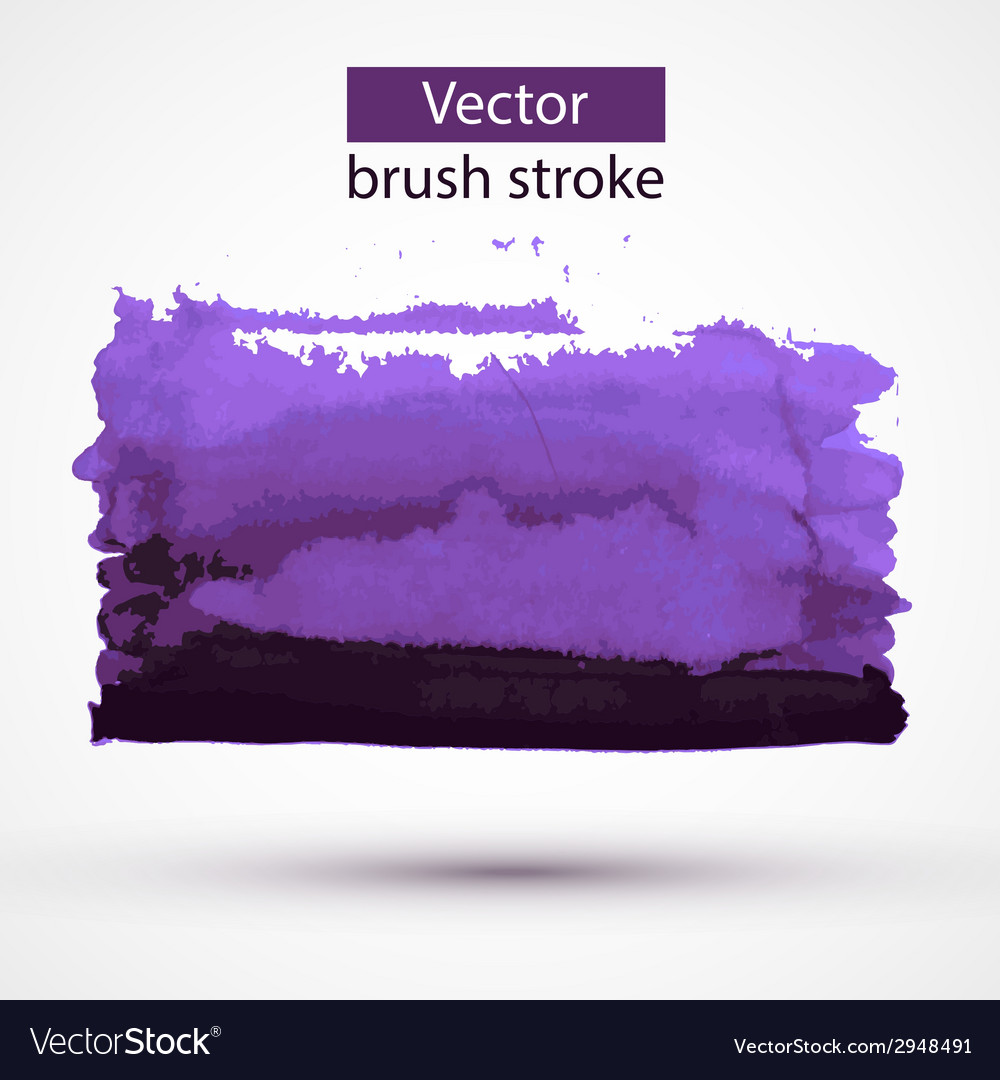 Paint stroke design element vector | Price: 1 Credit (USD $1)