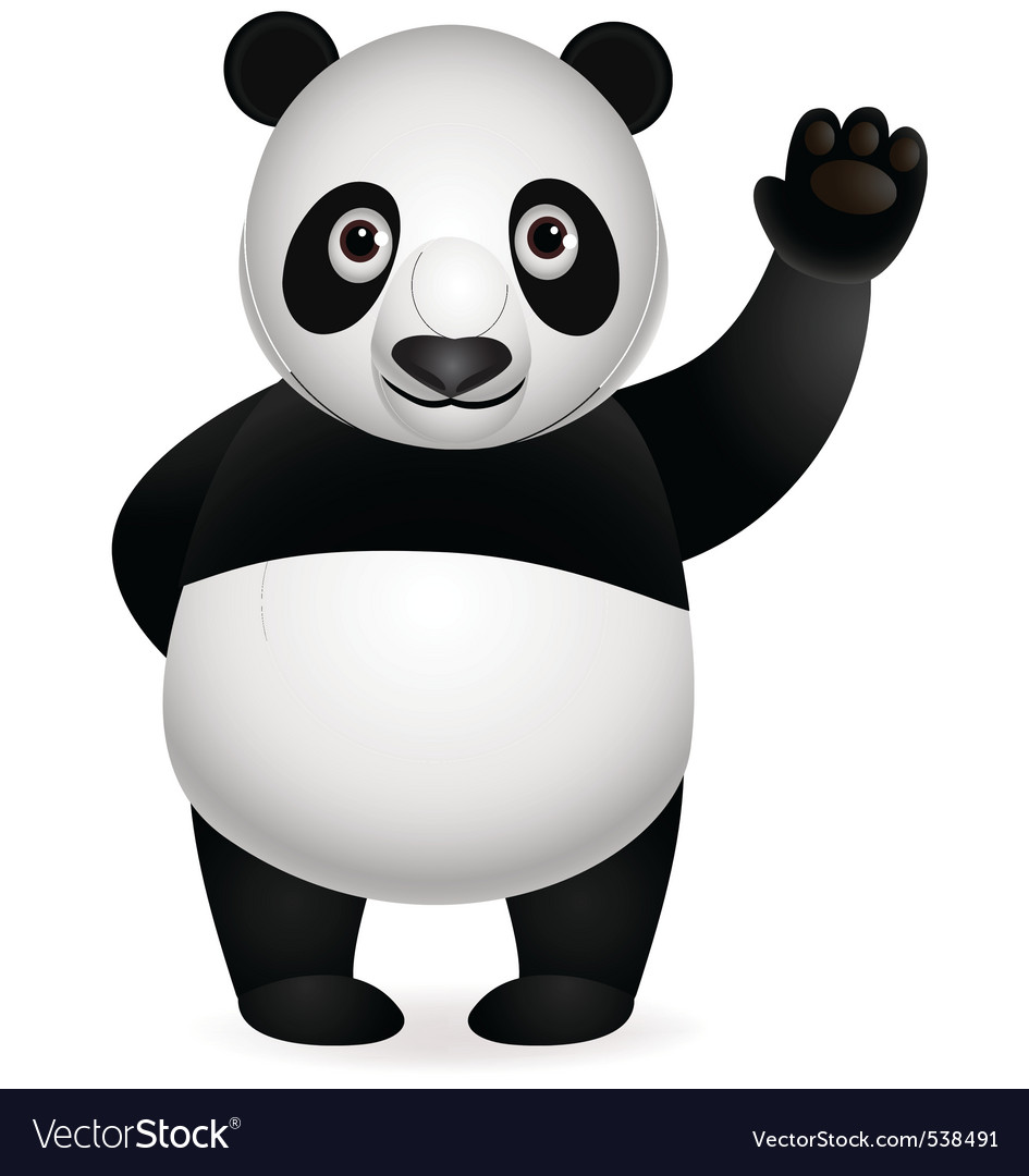 Panda cartoon vector | Price: 1 Credit (USD $1)