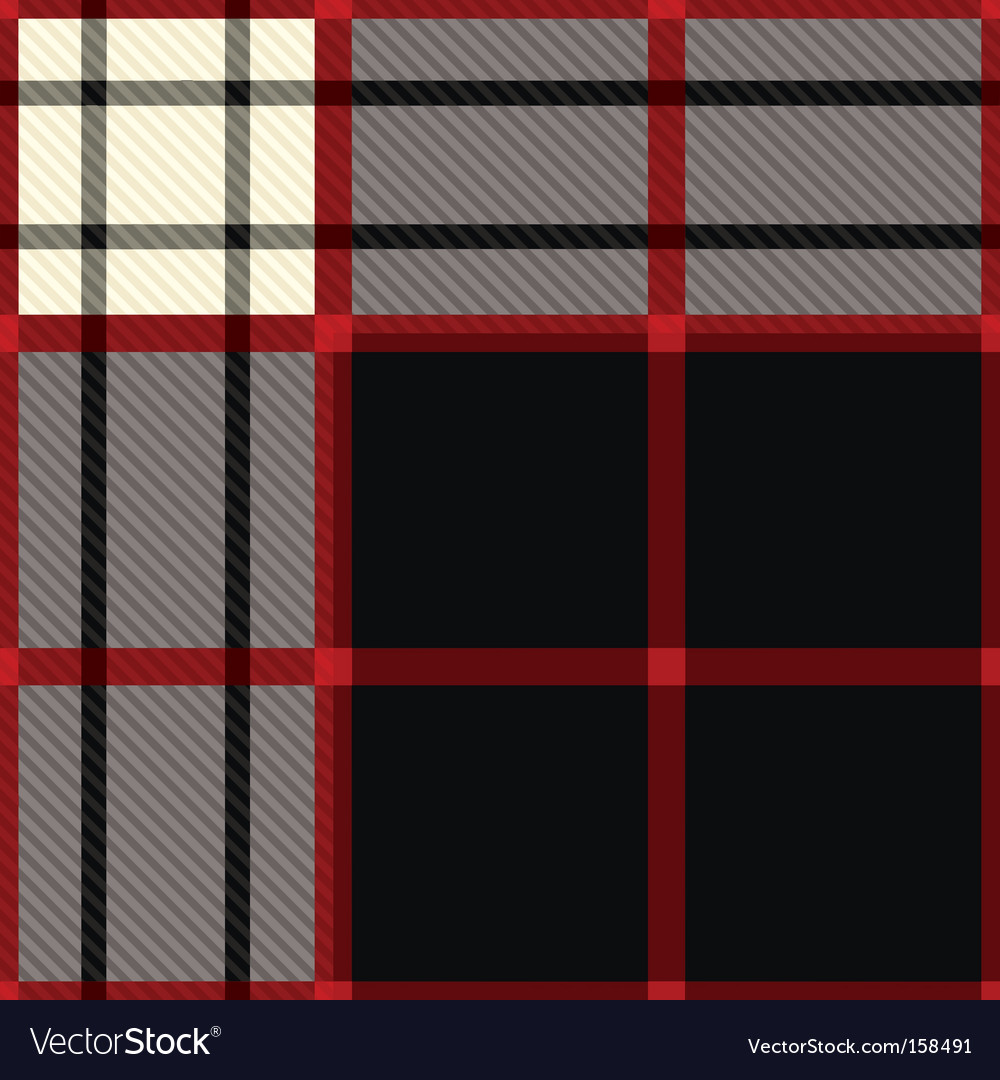 Tartan black and red vector   Price: 1 Credit (USD $1)