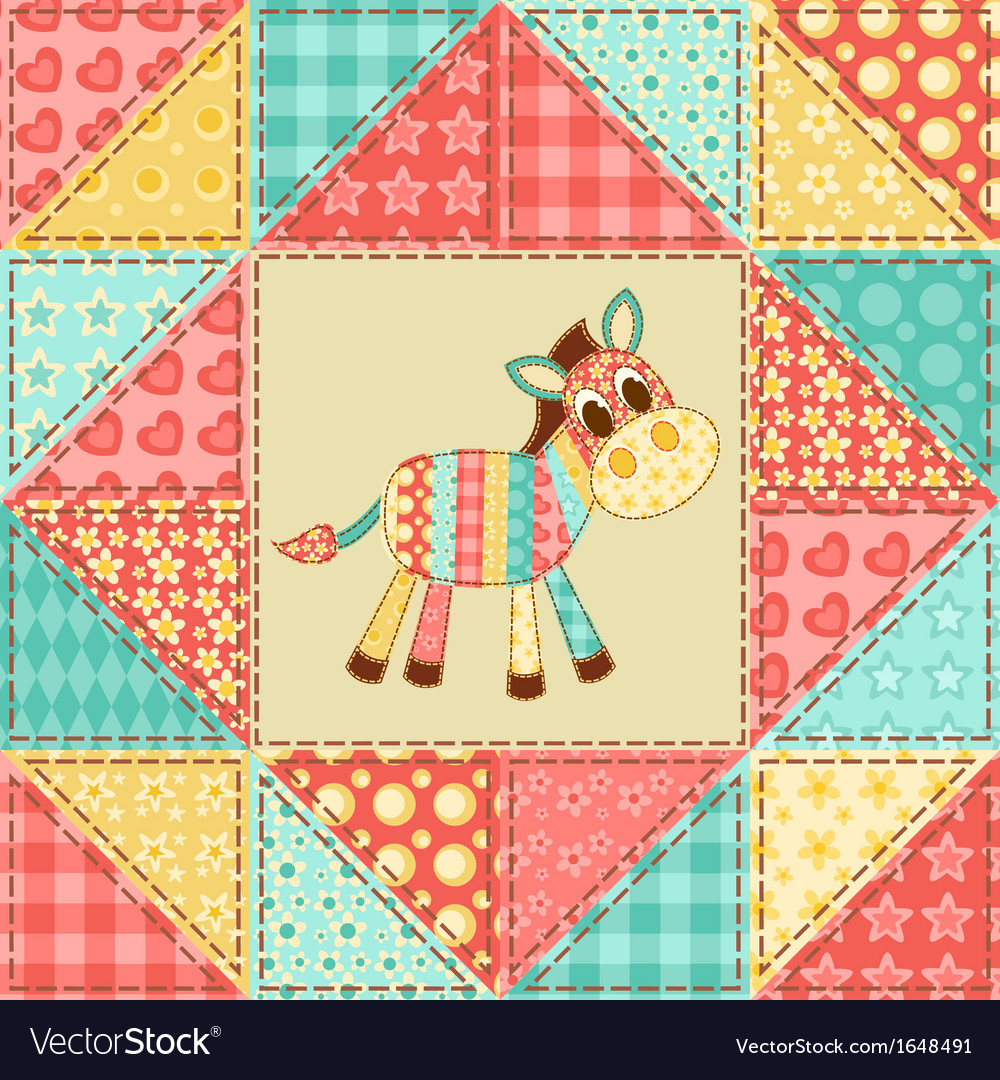Zebra quilt pattern vector | Price: 1 Credit (USD $1)
