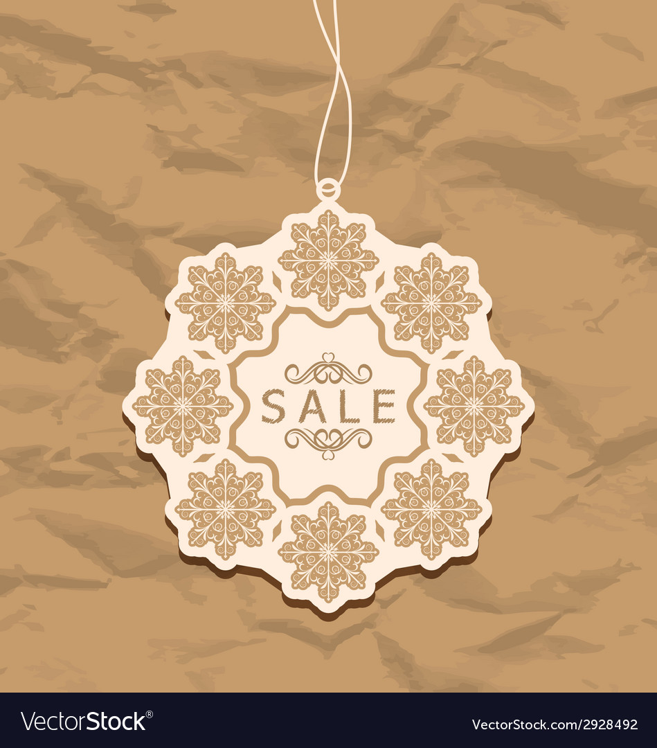 Christmas discount label vintage style vector | Price: 1 Credit (USD $1)