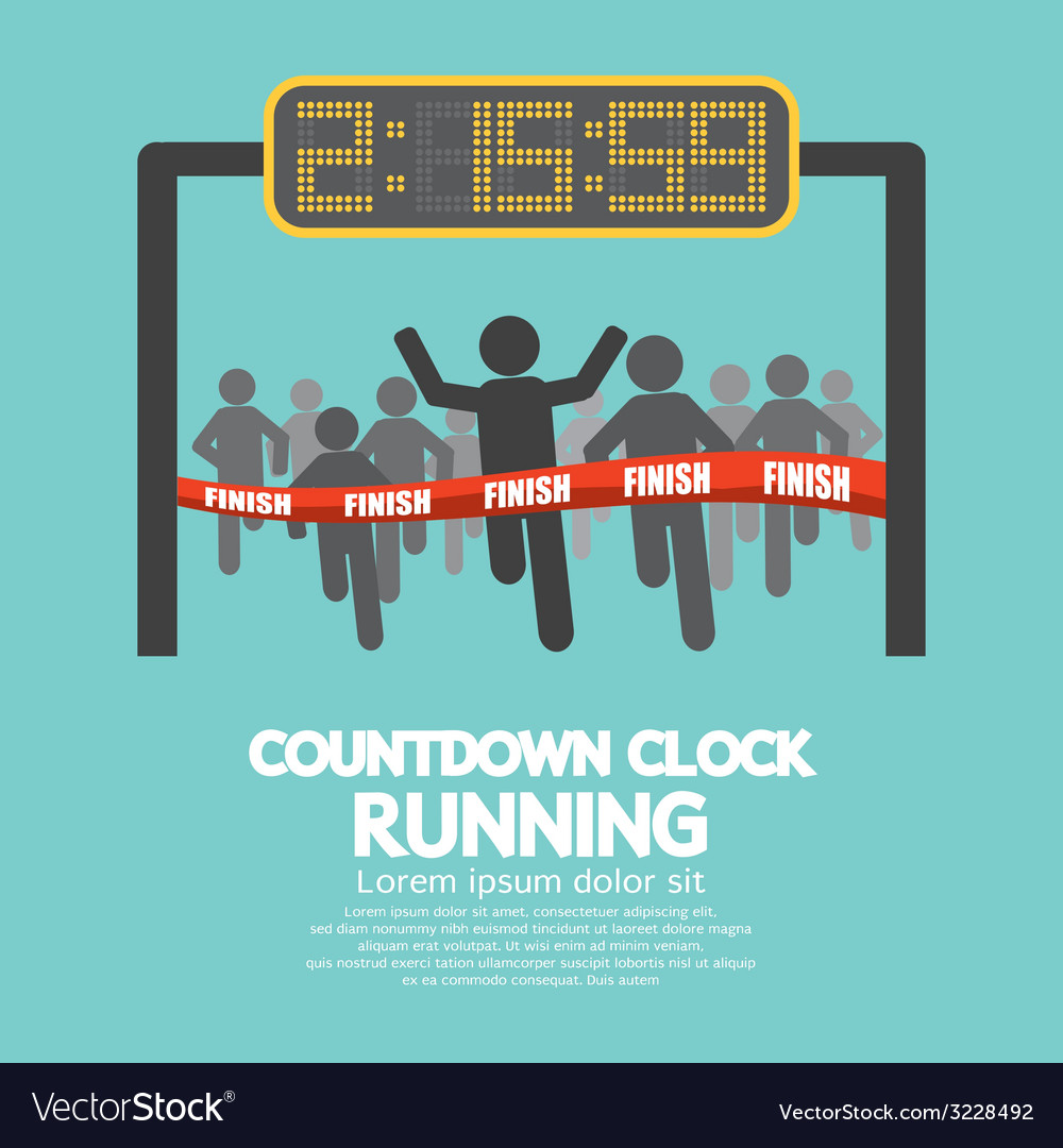 Countdown clock at finish line vector | Price: 1 Credit (USD $1)