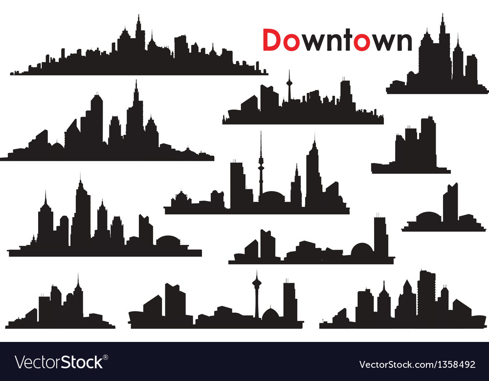 Downtown vector | Price: 1 Credit (USD $1)