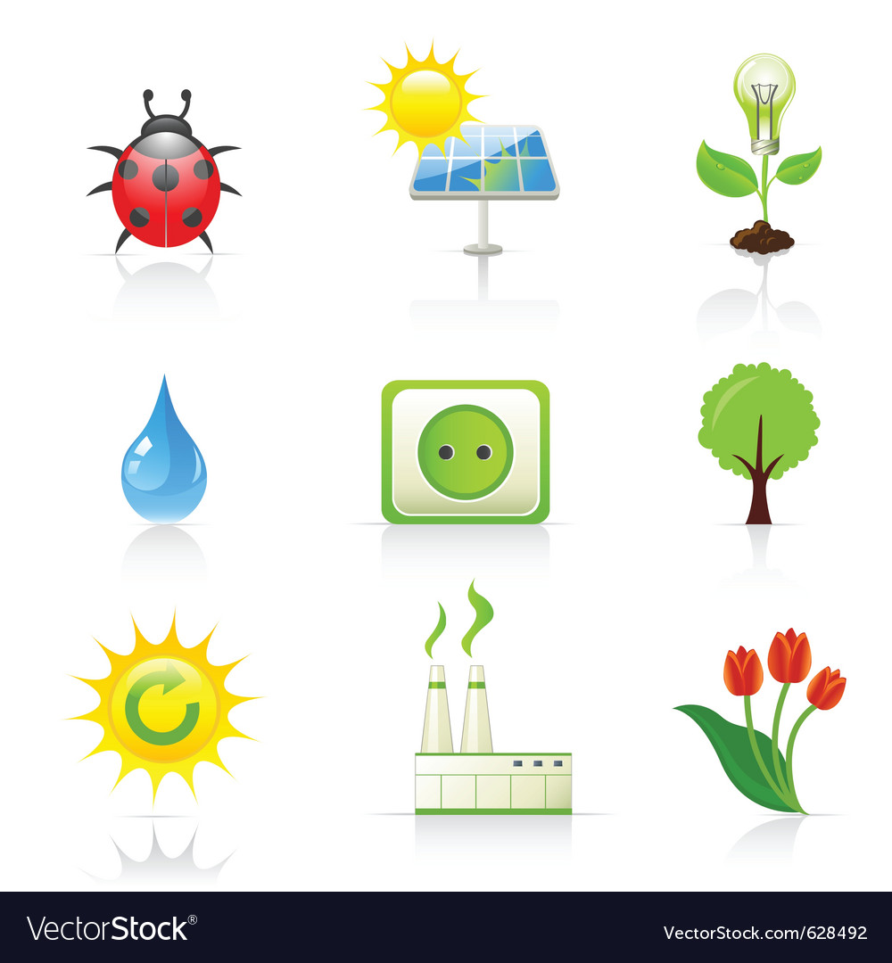 Environment and ecology icons vector | Price: 3 Credit (USD $3)